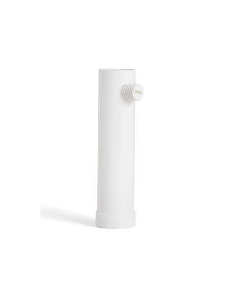 Wit kunststof trekontlaster, lang model