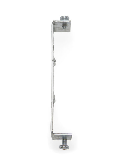 Zilveren beugel voor wandlamp of plafondlamp, metaal, 9.3 cm