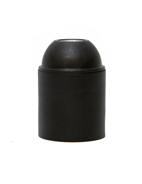 Lamp Socket, E27 fitting, black, smooth surface