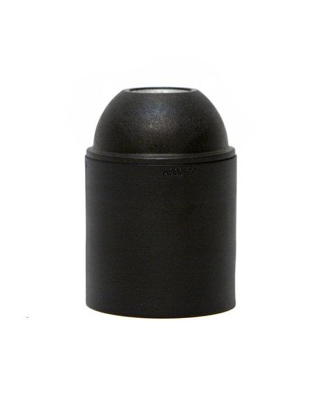 Lampfitting E27, zwart, glad