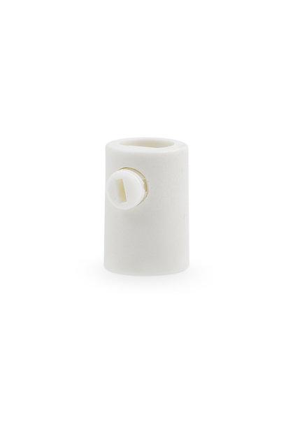 Cord Strain Relief, White, Plastic, M10x1 Internal Thread