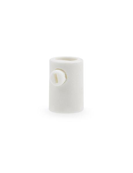 White cord grip, internal thread M10x1