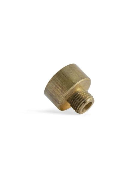 Brass Reducer, M10x1 External Thread, M15x1 Internal Thread