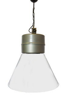 Industrial Pendant Lamp, Big Model, Grey-White