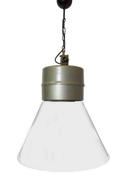Industrielamp, Groot Model, Grijs-Wit