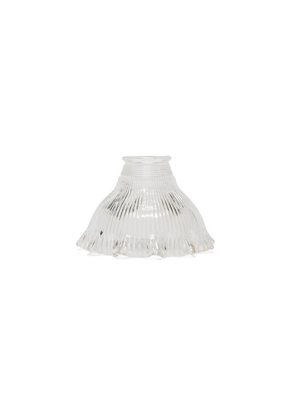 Antique Lampshade, Clear Glass