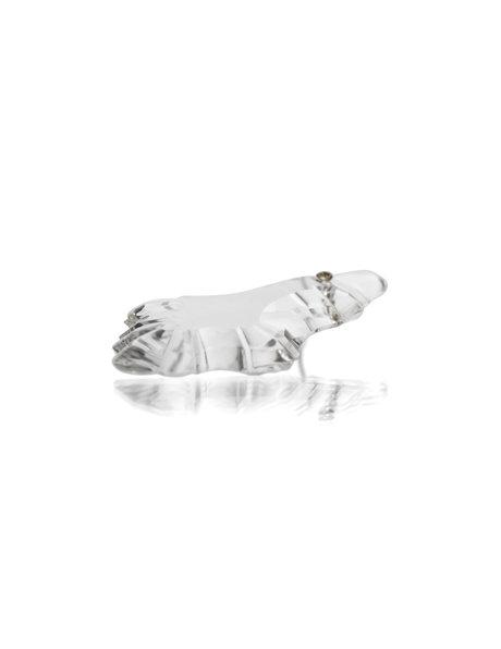 Kroonluchter glas, eikenblad-vorm kraal