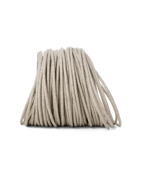 Electrical cord for lamps, round model, jute, 2 core