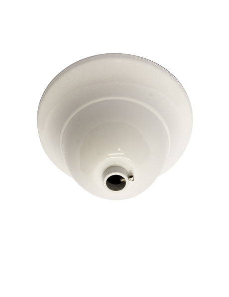 Ceiling plate, white, M10 opening