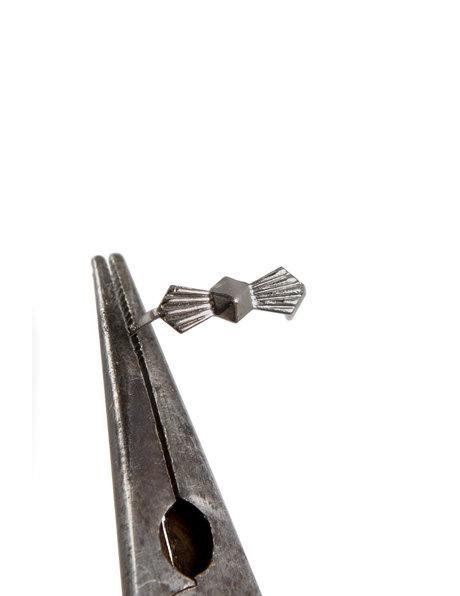 Zilveren strik voor kroonluchter glas, 20 in zakje