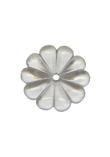 Kristal Glas voor Kroonluchter: Rozet 4.8 cm