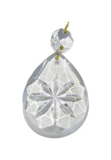Bead for Chandelier, Crystal Glass Drop With Star