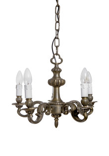 Small Chrome Colored Chandelier
