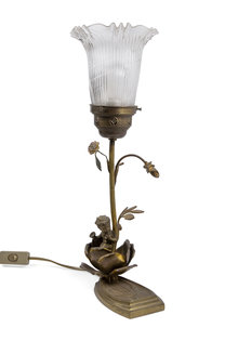 Antique Table lamp with Cherub