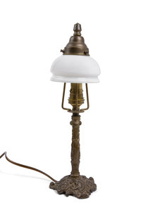 Table Lamp With Small Glass Shade