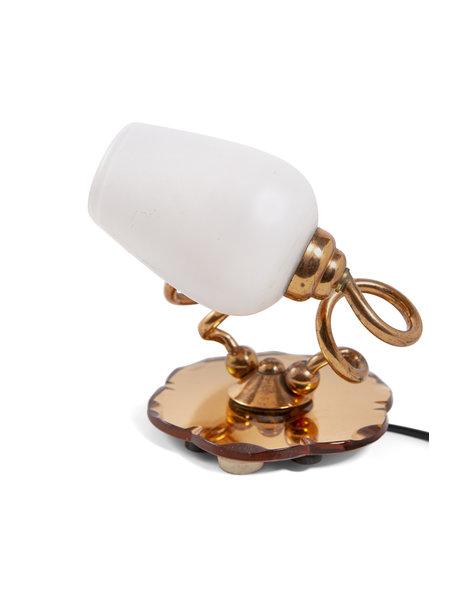 Unieke tafellamp met 2 armen, ca. 1950