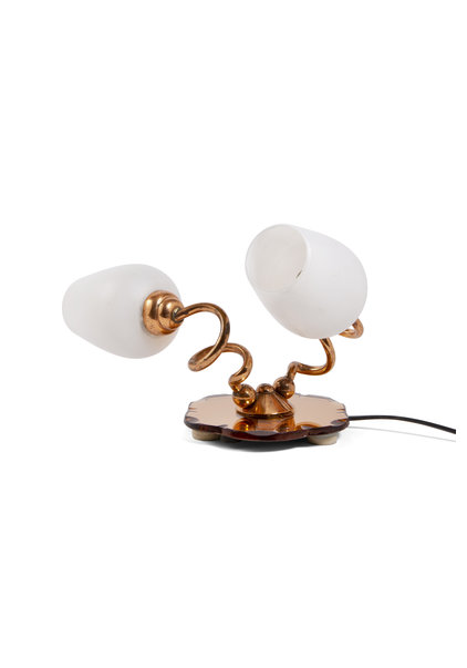 Roodkoperen Tafellamp, Unieke Vorm, Jaren 50