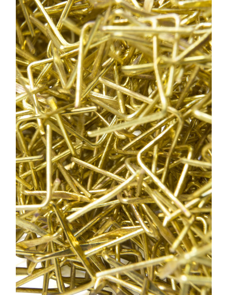 Brass staples / pins for chandelier beads, 20 pieces in a bag