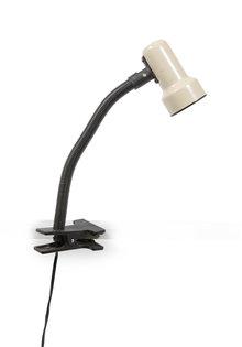 Vintage Bureaulamp, met Tafelklem, Buigbare Arm