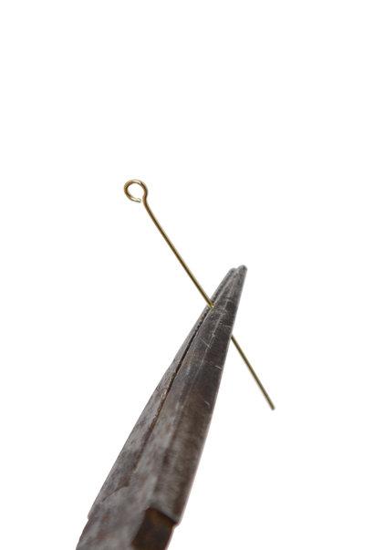 Kroonluchter, Goudkleurige Speld met Oog, 3.8 cm