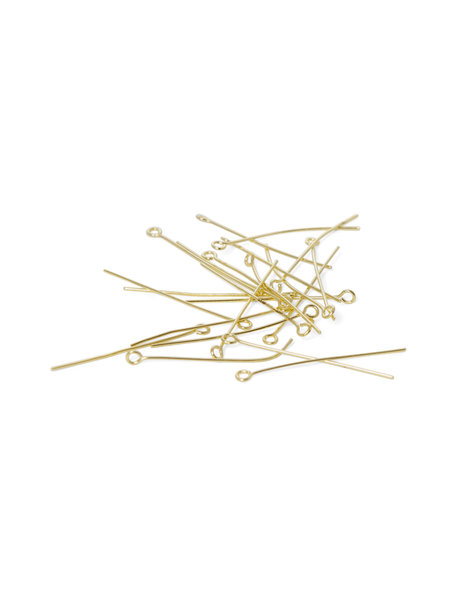 Kroonluchter onderdelen, goudkleurige  kroonluchter speld, lengte 3.8 cm