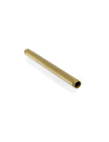 Stang, Messing Ruw, hol, voor lampen, 15 cm lang en 1.3 cm diameter