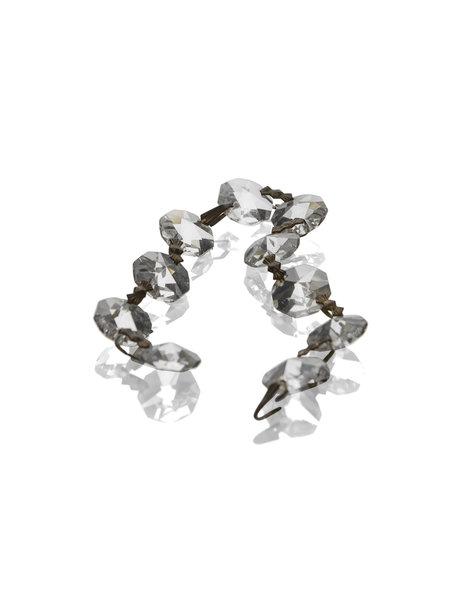 Kroonluchter glaswerk, kettinkje met 10 kleine kralen