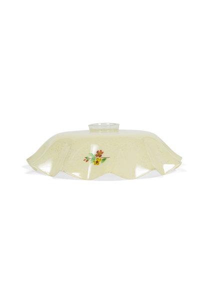 Brocante Lampshade, Light Yellow Glass, 1940s