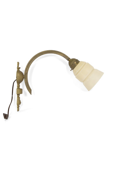 Large Wall Lamp with Cream-Coloured Shade