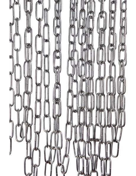 Lamp chain, steel links, size: 4,2 x 2.0 cm  (= 1.65 x 0.8 inch)