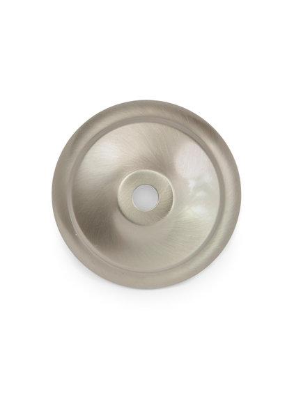 Afdekplaat, rond, mat zilver 8.0 cm