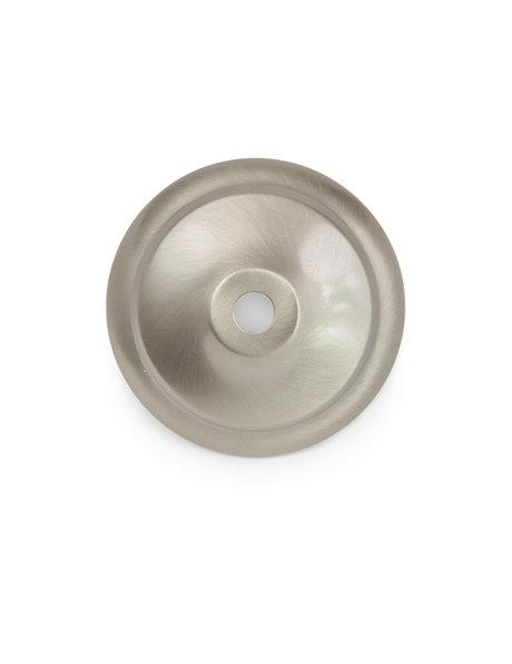 Cover cap, round shape, matt silver color
