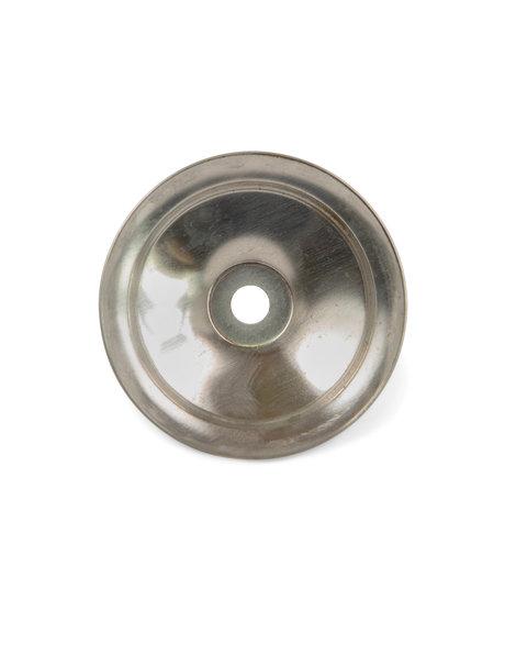 Afdekplaatje, ronde vorm, mat zilverkleur