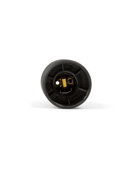Zwarte fitting, E14, schroefdraad aan de buitenzijde