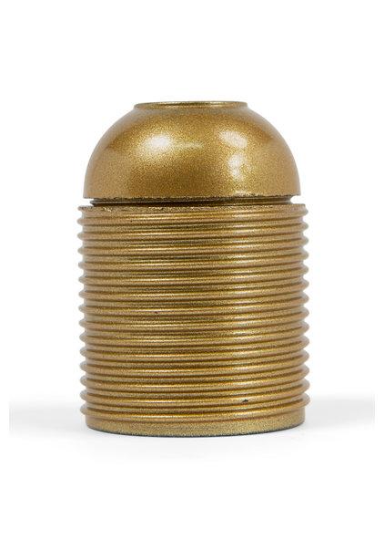 Lampfitting, E27, Goud Kunststof