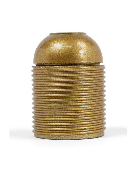 E27 fitting, goud kunststof, met schroefdraad