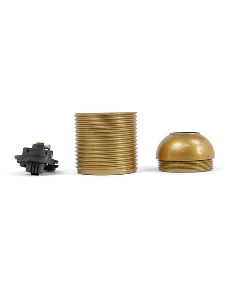 Lamp Socket, E27 fitting, gold bakelite, with screw thread