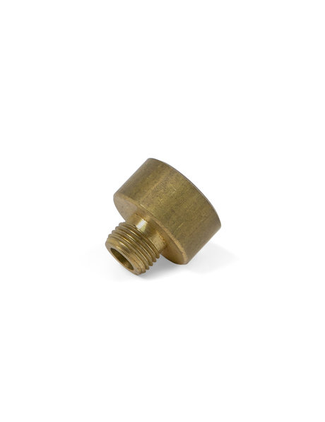 Adapting nipple for pipes, M10x1 to M15x1, brass