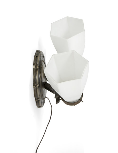 Classic wall lamp with 2 glass shades, ca.1930