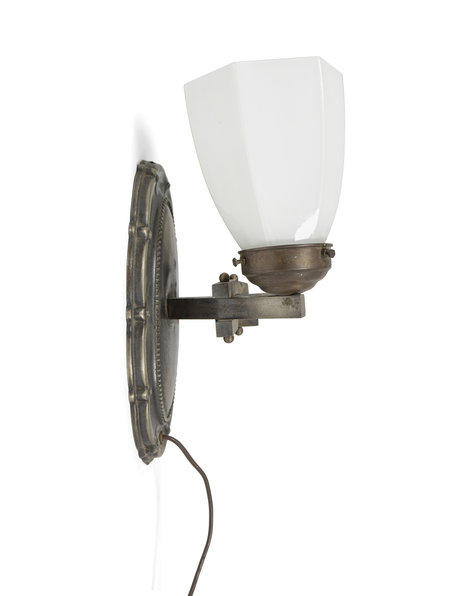 Classic wall lamp with 2 glass shades, 1930s