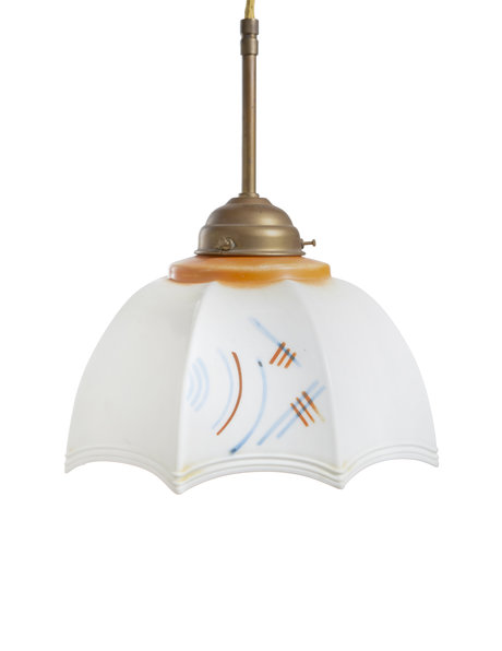 Glass lampshade with abstract decoration, ca. 1930