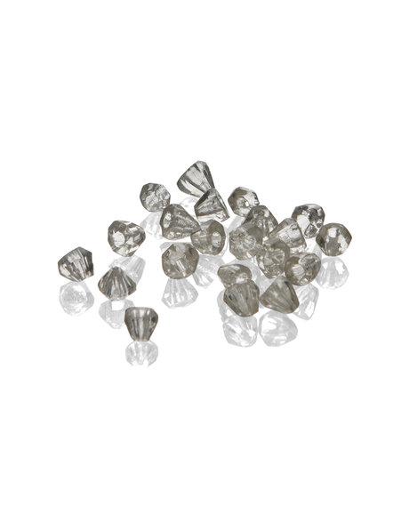 Kroonluchter glas, piramidevormige kraal van 0.7 cm
