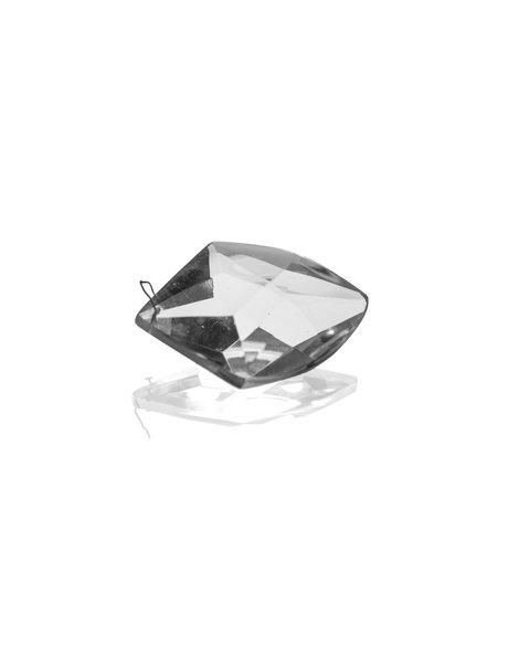 Oude kristallen kraal voor kroonlusters, bijzondere vorm met facetten
