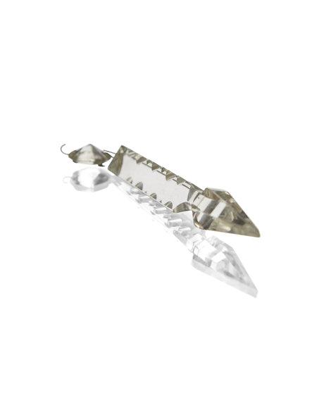 Loose chandelier beads in the shape of an arrow