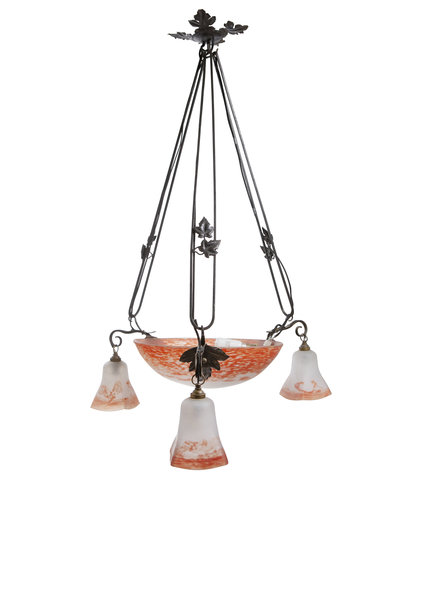 Franse Hanglamp, Signatuur Bauer