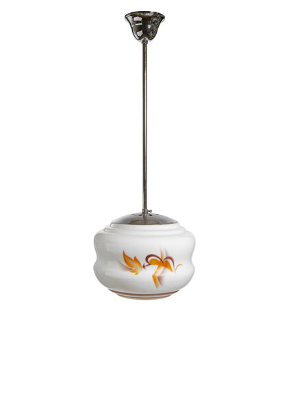Pendant lamp from the 1930s, glass shade