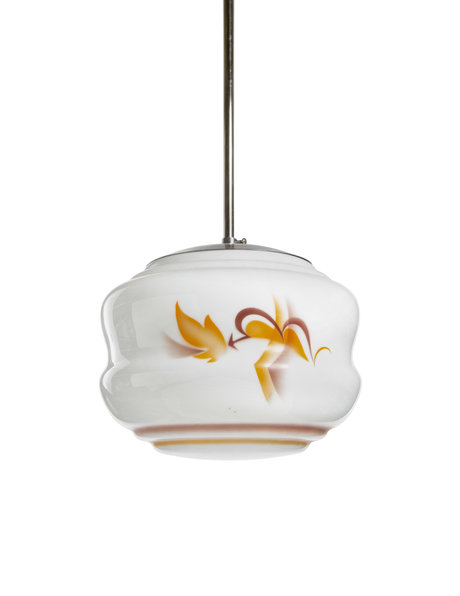 1930s pendant lamp, abstract motif, approx. 1930