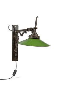 Klassieke Wandlamp, Fer Forge en Email