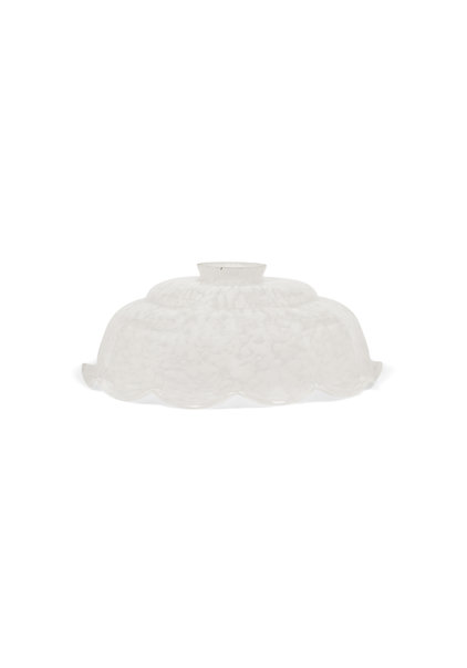 Antique Lampshade, White Clouded Glass