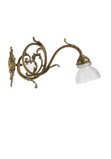Copper Wall Lamp, Curly Fixture